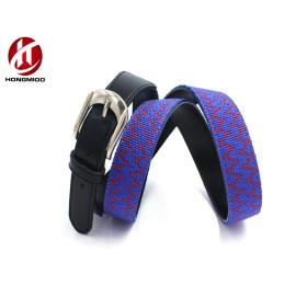 Genuine Leather Needlepoint Custom Webbing Belt