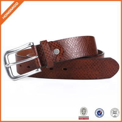 Men's Vegetable Leather Belt With Adjustable Prong Buckle Belt Brown Belt