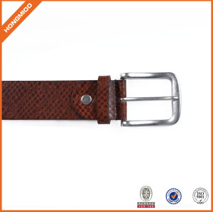Men's Vegetable Leather Belt With Adjustable Prong Buckle Belt Brown Belt