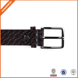 Manufacturer Adjustable Belt Leather Belt in Special Pattern With Prong Buckle