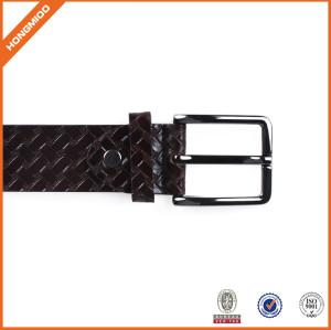 Manufacturer Adjustable Belt Leather Belt in Special Pattern With Prong Buckle