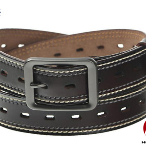 2017 Top Sell Brown Black Men's Belt Genuine Leather with Adjustable Size