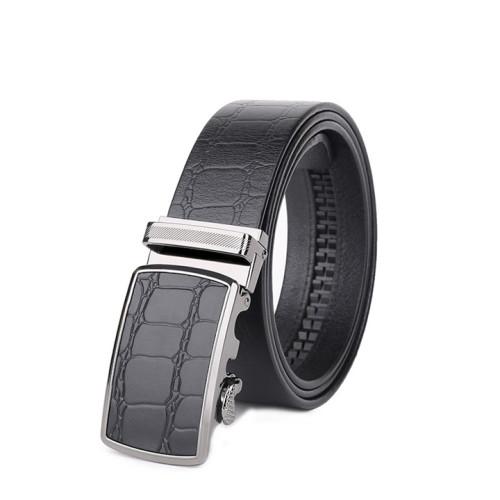 Cowskin Adjustable Belt With Automatic Buckle For Men Business Belt
