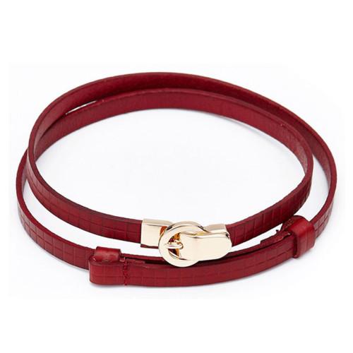 Women's Cowskin Embossed Leather Casual Dress Fashion Belt Dressing Belt