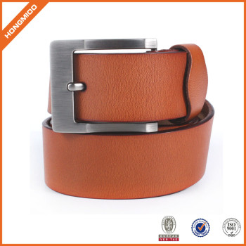 Hotsale Brown Leather Wide Waist Belt for Women With Prong Buckle