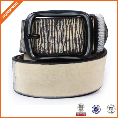 Fashion Belt For Women And Men Made of PU Leather With Single Prong Buckle