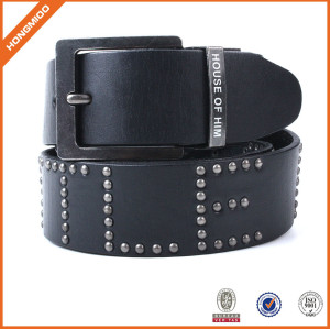 High Quality Black Genuine Leather Belt