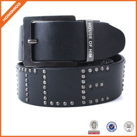 High Quality Black Genuine Leather Belt
