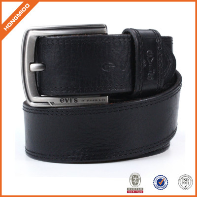Men's Casual Leather Belt  for Jeans Dress Leather Strap Silver Prong Buckle Belt