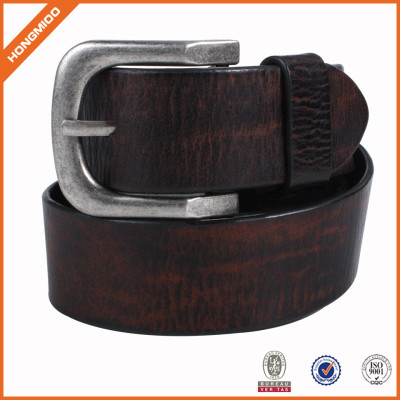 Competitive Price Genuine Men Leather Belt With Pin Buckle For Jeans