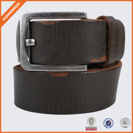 Topest Quality Full Grain Genuine Leather Belt With Single Prong Buckle