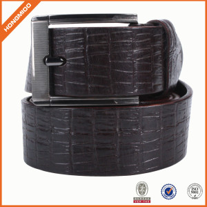 New Good Design Full Grain Black Leather Belt
