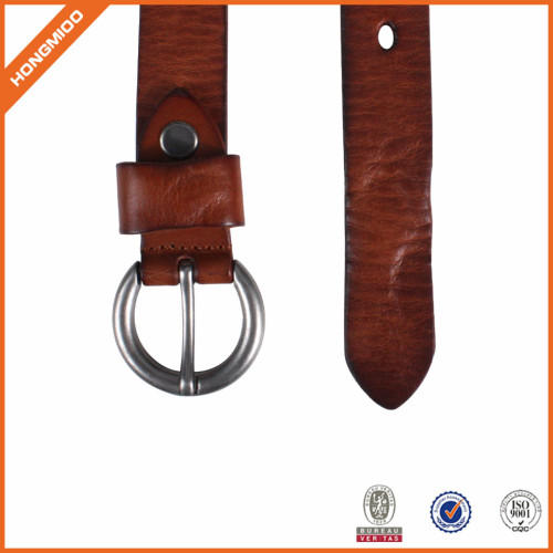 Women Casual Dress Belt Fashion Leather Belt With O Ring Buckle For Jeans Pants