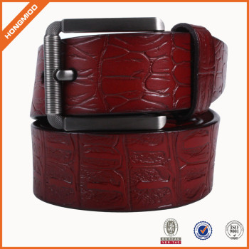Vintage Brown Genuine Leather Casual Jeans Belt For Women