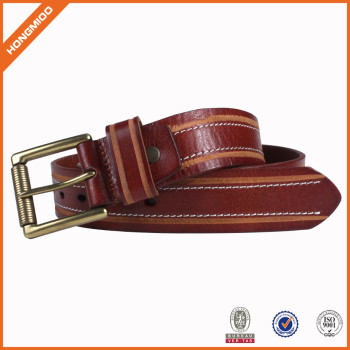 Men's 100% Italian Cow Leather Belt Men With Anti-Scratch Buckle Customized Package