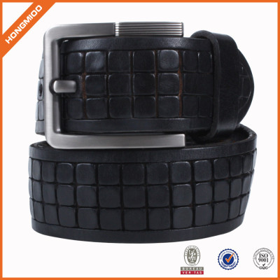 Black Waist Belt PU Leather Casual Belt With Single Prong Buckle