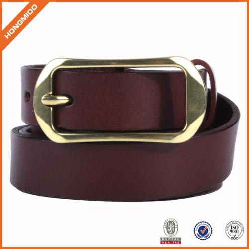 Formal design Wholesale Mens Vegetable Leather Belt With Single Prong Buckle
