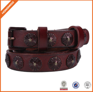 Top Quality Genuine Leather Belt with Rivets