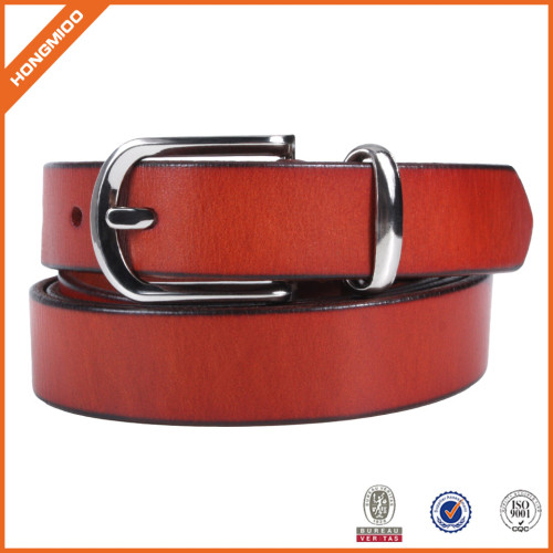 Women 's Casual Leather Belt Trinity Style For Jeans Dress Leather Strap Silver Prong Buckle Belt