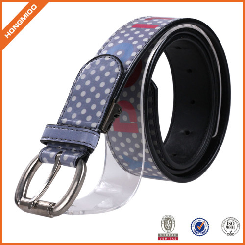 Cartoon Printting Leather Belt With Single Prong Buckle FOr Women
