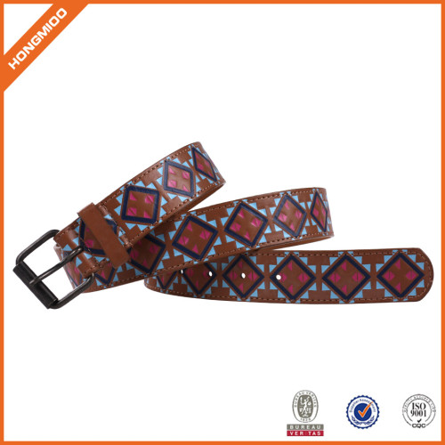 Genuine Leather Belt With Special Printting Pattern Leisure Leather Belt For Men