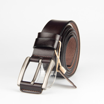 Brown Leather belt With Pon Buckle Vegetable Leather Belt For Men