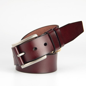 Brown Leather belt With Pon Buckle Vegetable Leather Belt For Men