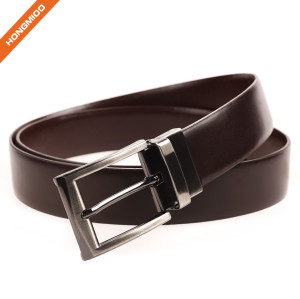 Comfortable Belt Men's Genuine Leather Dress Belt Reversible Belt