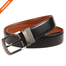 Men's Genuine Leather Dress Belt With Reversible Buckle Fashion And Classic Designs For Work
