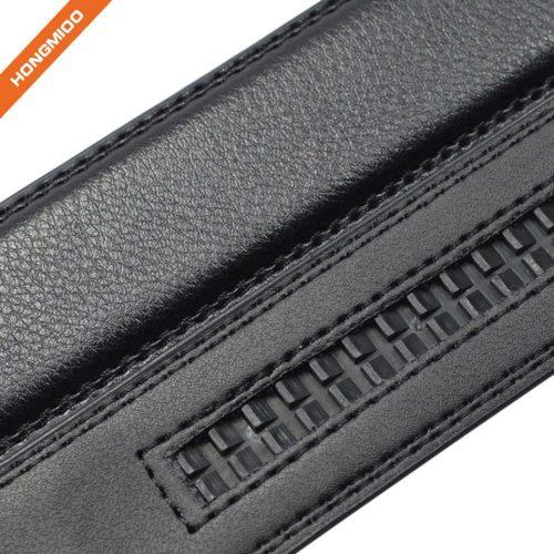Adjustable Men's Split Leather Belt Automatic Slide Buckle
