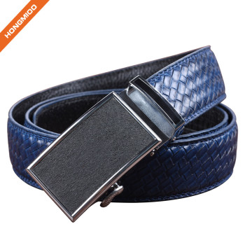 Hongmioo HA-027 Blue Cowhide Genuine Leather Men's Ratchet Belts