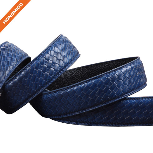 Hongmioo HA-027 Blue Cowhide Genuine Leather Men's Ratchet Belts