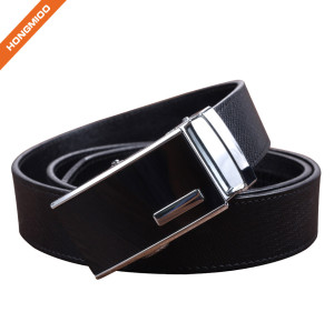 Hongmioo HA-029 Black Split Leather Automatic Buckle Ratchet Belt