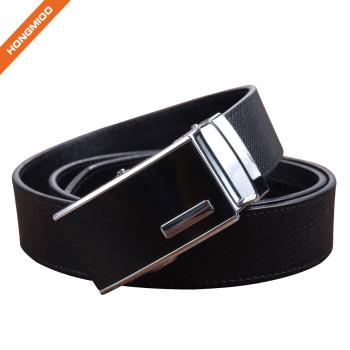 Hongmioo HA-029 Black Split Leather Automatic Buckle Ratchet Belt