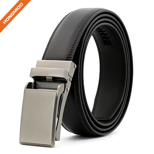 Hongmioo TB1482 Black Custom Texture Mens Blank Alloy Buckle Genuine Leather Mens Belt