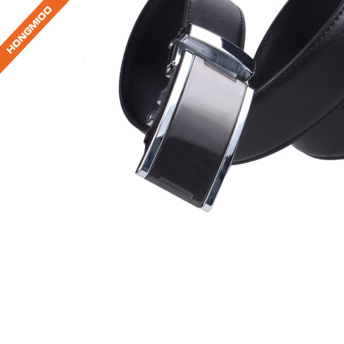 Hongmioo High-End Genuine Leather Automatic Buckle Belt Sof Strap