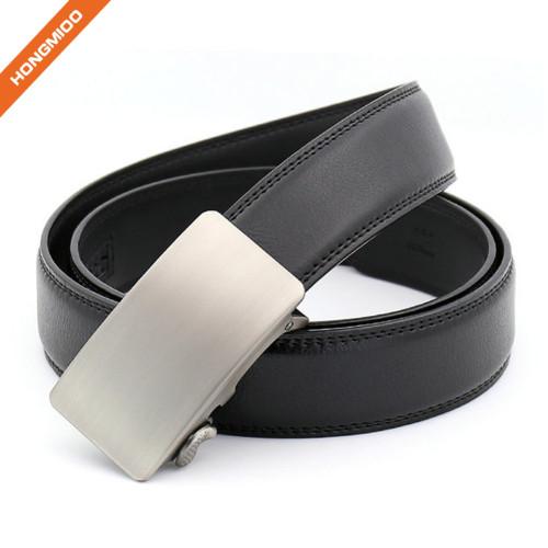 Hongmioo TB1488 Black Automatic Buckle Men Dress Split Leather Ratchet Belt