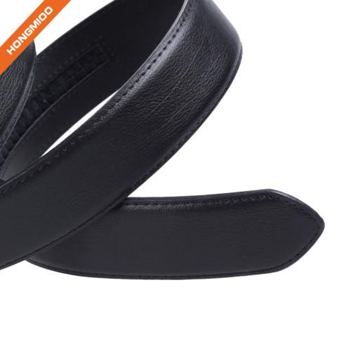 HA-006 Hongmioo Black Men's Split Leather Ratchet Belt without Holes