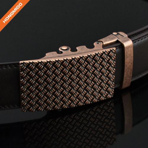Hongmioo TB1492 Classic Antique Automatic Buckle Mens Ratchet Black Brown Belt
