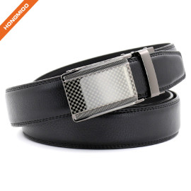 Hongmioo TB 1475 Slide Buckle Genuine Leather Ratchet Men's Business Dress Belt