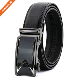 Hongmioo TB 1479 Split Leather Automatic Ratchet Men's Business Leather Belt