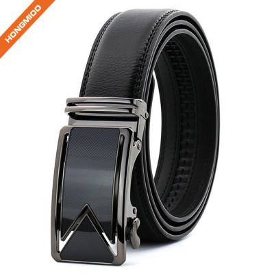 Hongmioo TB 1479 Split Leather Automatic Ratchet Men's Business Leather Belt