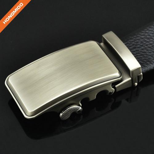 Hongmioo TB1493 Brush Antique Silver Side Release Buckle Men's Dress Black Ratchet Belt
