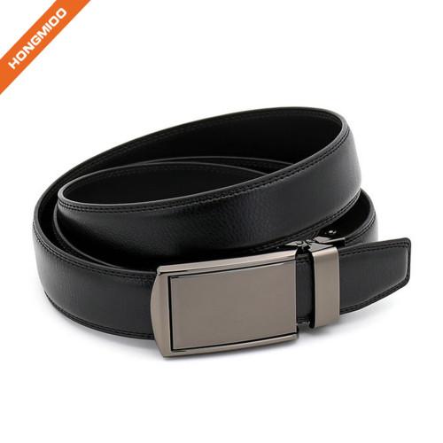 Hongmioo TB 1236 Comfort Click Slide Ratchet Buckle Split Leather Men's Belt