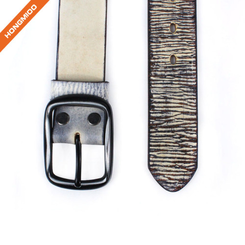 Hongmioo HT-003 Cow Boy Style Men's Full Grain Leather Belt With Anti-Scratch Buckle