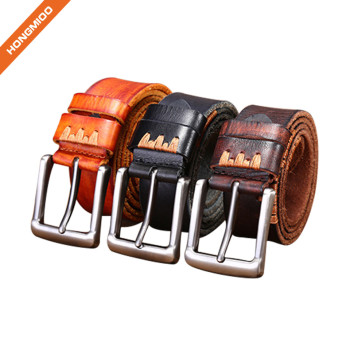 Hongmioo Premium Full Grain Leather Men's Leisure Belt