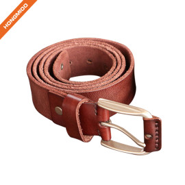 Hongmioo Classic Men's Full Grain Leather One Piece Belt for Jean