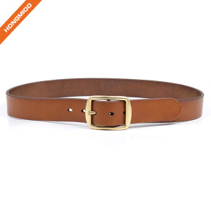 Hongmioo 100% Full Grain Leather Men's Classic Jean Belt