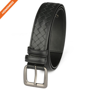 Hongmioo Men's Full Grain Classic Design Casual Leather Belt