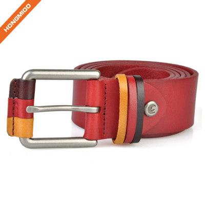 Hongmioo Style Zinc Alloy Buckle Belt Cowhide Leather Men Belt